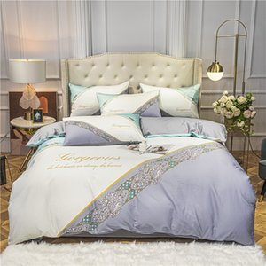 2021 princess queen size Bedding Sets white bohemia fashion Queen Bed Sheet high quality modern comforter Cover boho bedding