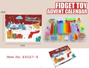 Fidget Toys Party Favor Calendars Christmas Countdown Blind Mystery Box Sensory Finger Toy Lucky Boxes For Kid Adult Gift