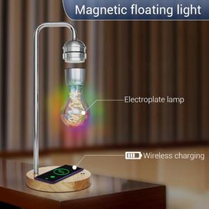 Lampadina di levitazione magnetica Creatività Lampadina galleggiante per il regalo di compleanno Decor Magnet Levitating Light Charger wireless per telefono