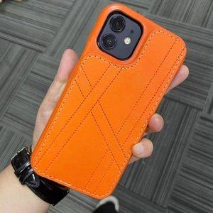 Люксовые дизайнерские чехлы для телефонов для iPhone 12 11 Pro Max XR X 7 8 PLUS Модели мода PU Кожаная кожаная защитная защита корпуса чехол сотовый телефон