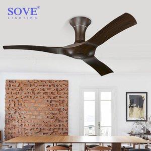 54 inç kahverengi modern tavan vantilatörleri açık tavan fanı olmadan uzaktan kumanda ile ev ventilador de teto ventilador 220 V