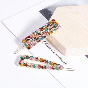 ZALE Mode-Diamant-Quadrat-Haarnadel-Temperament-Multicolor-Haar-Zubehör