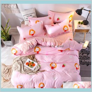 Sheets Pillowcase Quilt Cover Jungle Life Bedding Set Of 4 Bedding Tribute Cotton Pillowcase Creative Pattern Full Size Nzuvd Qppjv
