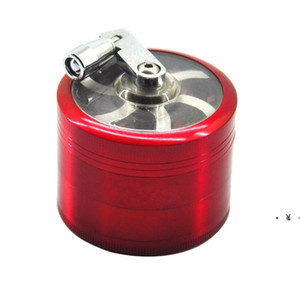 tobacco grinder 50mm 4layers Zicn alloy hand crank tobacco grinders metal grinders for herbs herbal grinders for tobacco Towel HWB5007