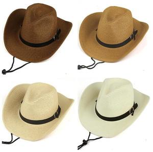 Men Cowboy Straw Hat Man foldable Sun Protection Cap outdoor Travel Beach Caps wide brim hats Summer Fashion Accessories Hot