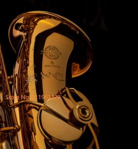 Alto Saxophone Coffee Engraved Gold E Flat Eb Sax with Case Accessories