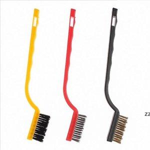 3pcs set Wire Brush Set Cleaning Brush Tool Metal Brass Nylon Cleaning Polishing Rust Gas Stove Cleaning Brush Tool HWF10401