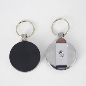 Retractable Card Badge Holder Steel Recoil Ring Belt Clip Pull Key Chain Metal Buckle Promotion Gift Lx1635OZ5M
