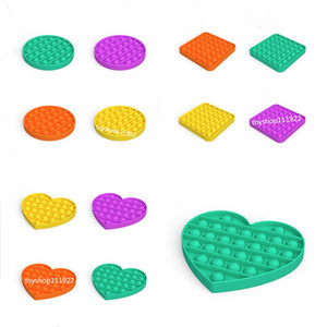 Hot Fidget silica gel Toy Sensory Push Bubble Board Game Sensory Toy Anxiety Stress Reliever Kids Adults Autism Special Needs Sale zx0032