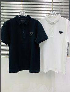 Çift Piqué Pamuk Polo Gömlek Rahat Yaz Nefes Katı Renk En Kaliteli Tees 21ss Erken Bahar Erkek T-shirt Tasarımcı Mektuplar Baskılı