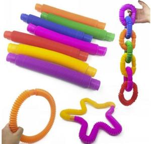 DHL дети вентиляционные декомпрессии игрушки телескопические сильфоны сенсорные игрушки растягивающие трубки смешные телескопические трубки игрушка FY2487
