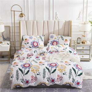 Bedding Sets Sanding Duvet Cover Set Printing Quilt Pillowcase Bed Linen