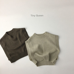 WD Korean Style Quality INS Newest Kids Boys Girls Vest Tops Spring Autumn Winter Children Knitted Sweaters Tops Vest
