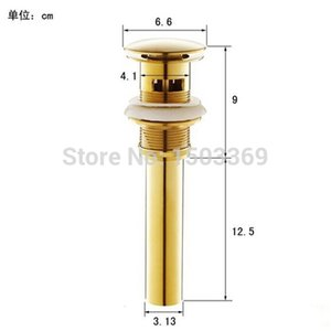 2021 New High Quality Solid Brass Lavatory Sink Push-down Pop Up Basin Drain with Gold Finish Bathroom Parts Faucet Accessories Jfwj