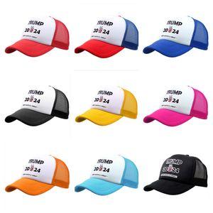 Cumhurbaşkanı Trump 2024 Örgü Topu Şapka Ayarlanabilir Yaz Snapbacks Beyzbol Kapaklar Amerika Tutun Büyük Mektubu Maga Patchwork Zorlu Visor GG3201
