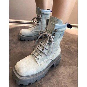 Роскошный дизайнер женские наполовину сапоги обувь зимний коренастый Med каблуки простые квадратные пальмы ножки обуви дождевые ZIP женщин середина теленка добыча износа устойчивый к толщему беру а128
