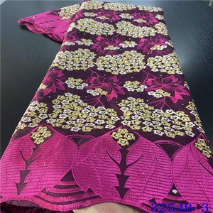 Ribbon African Dry Lace 100% Cotton Swiss Voile In Switzerland Nigerian Fabric With Stones For Woman Dress NA3254B-1