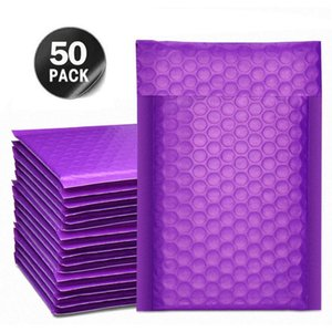 Packing Bags 50Pcs Purple Mailer Poly Bubble Padded Mailing Envelopes For Gift Packaging Self Seal Bag Black White & Pink