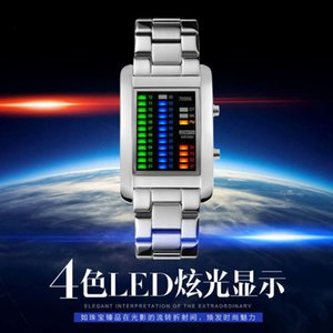 color watch fashion light creative Metal personality electronic LED men's Waterproof Sports Watch