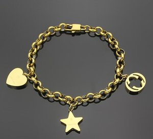 2021 Christmas 20 design mix boys men women girl deluxe bangle heart star chain jewelry 316L stainless steel silver gold rose letter love bracelets & bangles