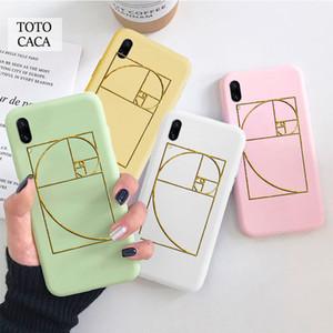 Goldenes Ratio Sacred Fibonacci Spirale Soft Phone Case für iPhone 11 PRO MAX X X X XR 6S 7 8 PLUS Niedliche Abdeckung FPR Iphone SE 2020