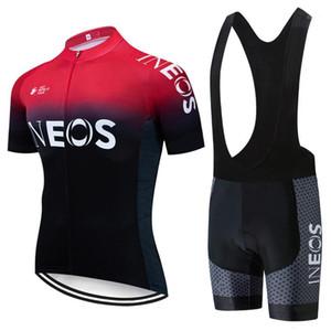 2019 Takım Siyah Kırmızı Bisiklet Jersey Önlükler Şort Takım Elbise Ropa Ciclismo Mens Yaz Hızlı Kuru Bisiklet Maillot Giyim1