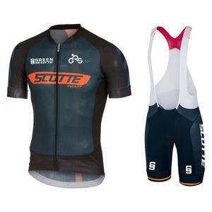 2021 Новый Green SoCtte с коротким рукавом Велоспорт Джерси набор MTB Велосипедная одежда Maillot ROPA Быстрый сухой альпинист Велоспорт Одежда MTB Jersey Young