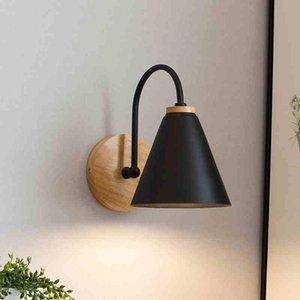 Wall Lamps Wooden Lights Bedside Lamp Bedroom Light Sconce For Kitchen Restaurant Modern Nordic Macaroon Sconces