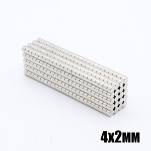 New Wholesale - In Stock 100pcs Strong Round NdFeB Magnets Dia 4x2mm N35 Rare Earth Neodymium Permanent Craft DIY Magnet