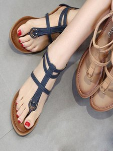 Woman Sandals Fashion Metal Buckle Shoes For Women Sandals Summer Shoe Flip Flop Chaussures Platform Sandal Tenis Feminino 3.6 13UU#