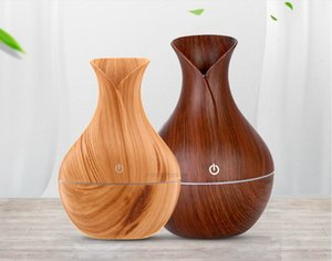 bamboo 2020 Oil new dark Diffuser wood Essential Ultrasonic Cool Mist Aromatherapy Humidifier with Color LED Lights ChanXHIEQS