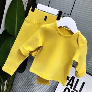 Boneless suit baby plush warm clothes underwear children 0-1 years old autumn and winter pajamas high waist cotton