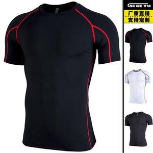 T-shirt per esercizi di asciugatura rapida T-shirt da uomo Tights Tights ESTERNO Running Violentemente Sweat Workout Abbigliamento Brothers Brothers