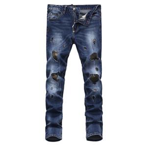 2020 Fashion Brand original design men's jeans slim fit biker jeans hi-street Balman style cowboy trousers