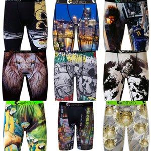 Marka erkek Boxer Ethika Iç Çamaşırı Tasarımcılar Spor Kısa Boksörler Plaj Swim Sandıklar Pantolon Grafiti Boxer Kısa Külot S-2XL H22501