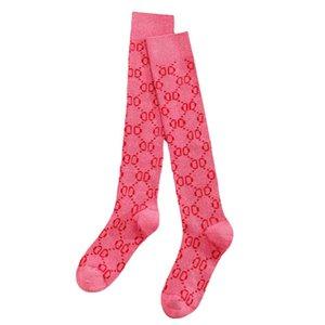 Luxury women's high socks long sock Fashion letter pattern Stockings