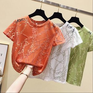 Tshirt Oversize Korean Clothes Womens T shirts Short Sleeve O Neck Thin Woman Tshirts Tee Shirt Femme 2021 New Summer