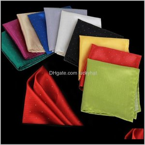 Handkerchiefs Drop Delivery 2021 Jacquard Spot Hanky Kerchief Business Suit Pocket Handkerchief Fashion Accessories Christmas Gift 210048 Kdf