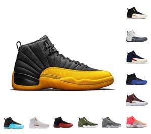 Jumpman 12 Chaussures de basket-ball 12s Jordán University Gold Indigo Twist Hot Punch Homme Baskets Jeu Royal Reverse Taxi Gym Gym Rouge Blanc Dark Gamma Bleu Formateur de plein air