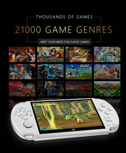 X9 Video Game Console 5.0 Inch Large Screen Handheld Game Player Support TV Out Put with MP3 Movie Camera Multimedia Video Game Console