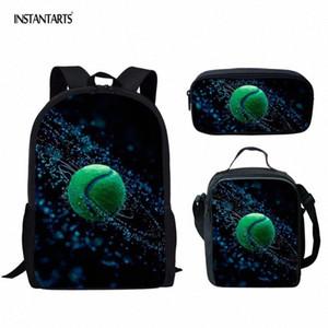 InstantArts 3D Теннисные Распечатать Детские Школьные Сумки Большой Плевый Рюкзак с карандашом Сумки 3D Детские Подарочные Участники Schoolbags Mochila S1JI #