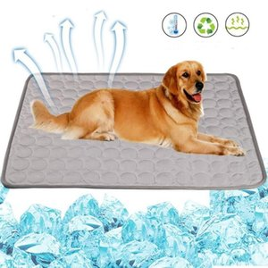 Dog Summer Cooling Mat Ice Silk Washable Pet Blanket Indoor Outdoor Mats for Dogs HWA6580