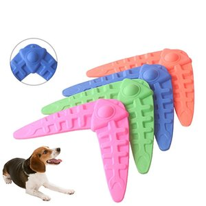 Dog Flying Discs Toy Bite Resistant Puppy Boomerang Pet Interactive Training Darts Molar Chew Toys For Small Medium Large Dogs