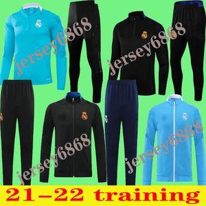 2121 2022 Real Madrid Cousssit Мужская футбол Chandal Футбол Tracksu 20 21 Учеб для взрослых Костюм Тощие штаны Sportswearadult