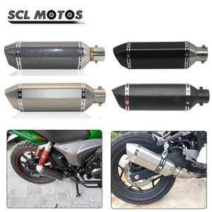 SCL MOTOS 1PC 51mm AK Motorcycle Exhaust Pipe Muffler For gy6 gsr 600 msx125 crf 230 cb650f Motorbike Pit Dirt Bike Moto Racing