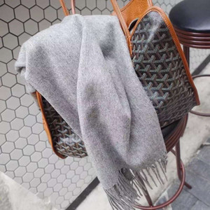 Autumn winter new style pure color wool blended warm tassel men's and women's Scarf Shawl