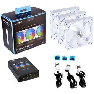 Fans & Coolings LIANLI UNI AL120 Fan,ARGB Water Cooling Cooler Master,Daisy Chain,L-Connect 2 Software,PWM,800~1900 RPM,64.5 CFM,Black,White