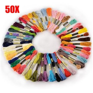 Yarn 2021 50 100PCS Cross Stitch Cotton Embroidery Thread Floss Sewing Skeins Craft DCS Dropship