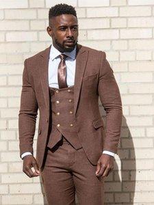Customize tuxedo One Button Handsome Peak Lapel Groom Tuxedos Men Suits Wedding Prom Dinner Man Blazer(Jacket+Pants+Tie+Vest) W990