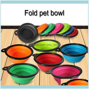 Bowls Feeders Supplies Home & Gardenwholesale 7 Colors Outdoor Travel Portable Collapsible Pet Cat Feeding Sile Foldable Water Dish Feeder D